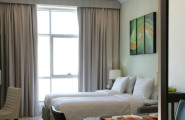 AURIS HOTEL APARTMENTS DEIRA obývačka rozdelené postele dubaj.nadosah.sk