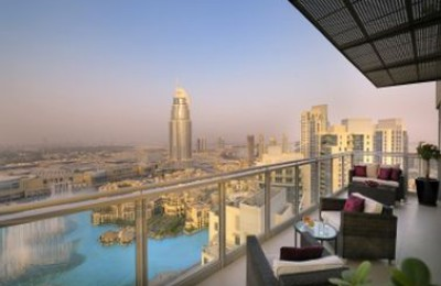 Ramada Downtown Penthouse výhľad z terasy dubaj.nadosah.sk
