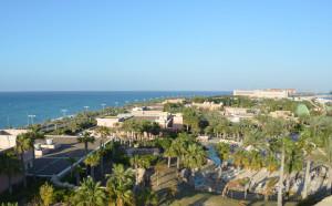 pohľad na aquapark atlantis v Dubaji nadosah